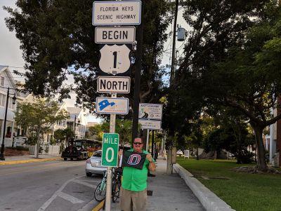 Paul Hoffman, Mile Marker 0, Whitehead Street, Key West, FL, USA