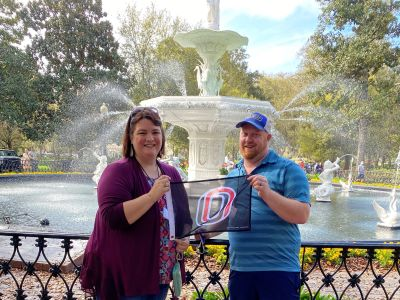 Elizabeth and Heath Draney, Savannah, GA, USA